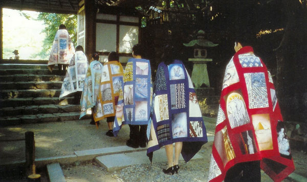 Kesa in procession to Honen-in Temple, Kyoto